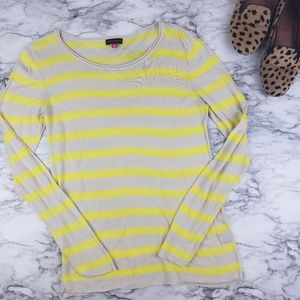 Vince Camuto I Striped Long Sleeve Sweater